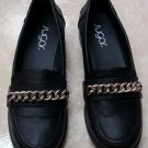 Womens Ladies Sugar Oxfords Loafer Black Shoes Size 8