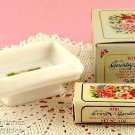 Avon Country Garden Soap Dish & Elusive Perfumed Soap w/ Dish Vintage