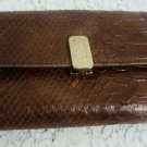 LIZ & CO CLAIBORNE BROWN WALLET CHECK BOOK CREDIT CARD