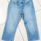 THE GAP GIRLS LADIES CAPRI PANTS BLUE JEANS DENIM SIZE 0