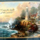 Multi-Color Picture w/ Frame, Print, Religious John 8:10 Lighthouse (2)Pictures