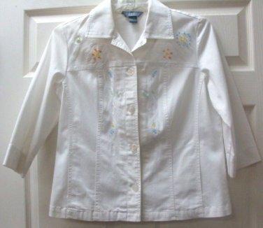 Koret Womens Ladies Capri White w/ Beaded Top & Pant Set Size M