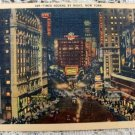 Time Square by Night New York Postcard Vintage Card Souvenir