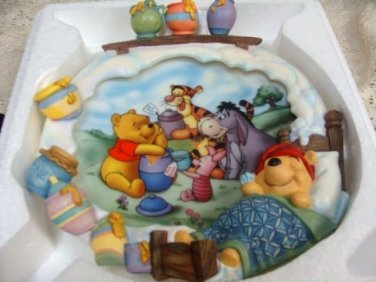"""Pooh's Sweet Dreams """"A Smacheral of Fun for Everyone Limited Edition 3D Plate"""