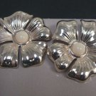 Avon Silvertone Floral Sculptured Drop Silver Tone Pierced Earrings - (vintage)