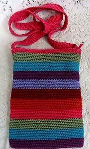 Aldo Girls Ladies Womens Knited Multi Color Small Shoulder Bag Purse