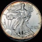 1997 American Silver Eagle 1 ozt Dollar Double Sided Rainbow Toning Toned .999