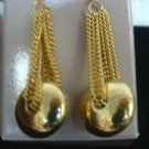 Avon Goldtone Chain Dangle Pierced Earrings