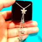 Avon Star Cluster Drop Silvertone Necklace