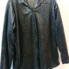 Black Leopard Velour Ladies Womens Size Medium