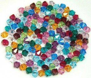 Swarovski Crystal Color Assortment 100 Beads