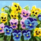 ACEO Art - Pansies - Patricia Ann Rizzo