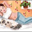 ACEO Art - Nap at Noon - Patricia Ann Rizzo