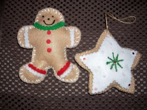 Scented Gingerbread man and star cookie Ornament Set