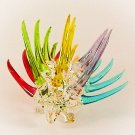 Hand Blown Glass Colorful Porcupine Art Glass Animal Figurines Thai Gifts