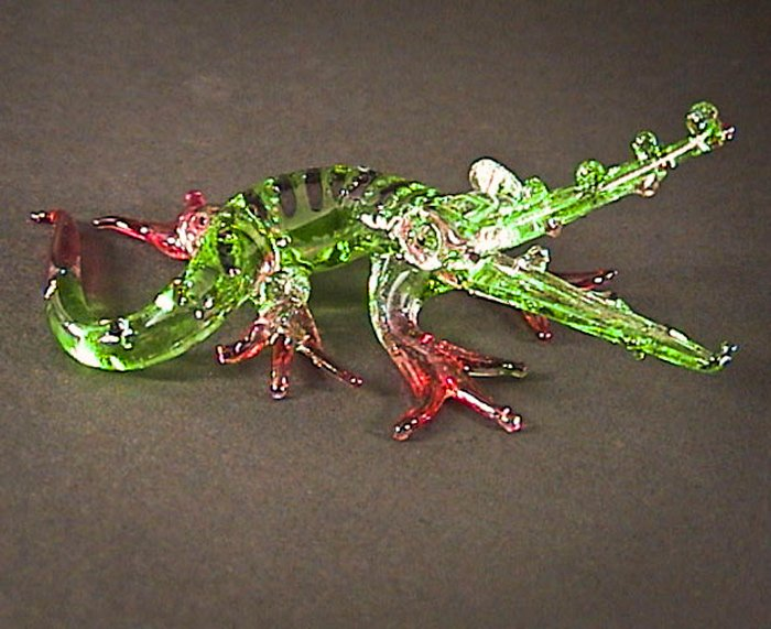 Hand Blown Glass Colorful Crocodile (Alligator) Art Glass Figurines Animals Thai Gifts