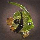 Hand Blown Glass Green Fish Art Glass Figurines Animals Thai Gifts