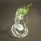 Hand Blown Glass Green Serpent (Snake) Art Glass Figurines Animals Thai Gifts