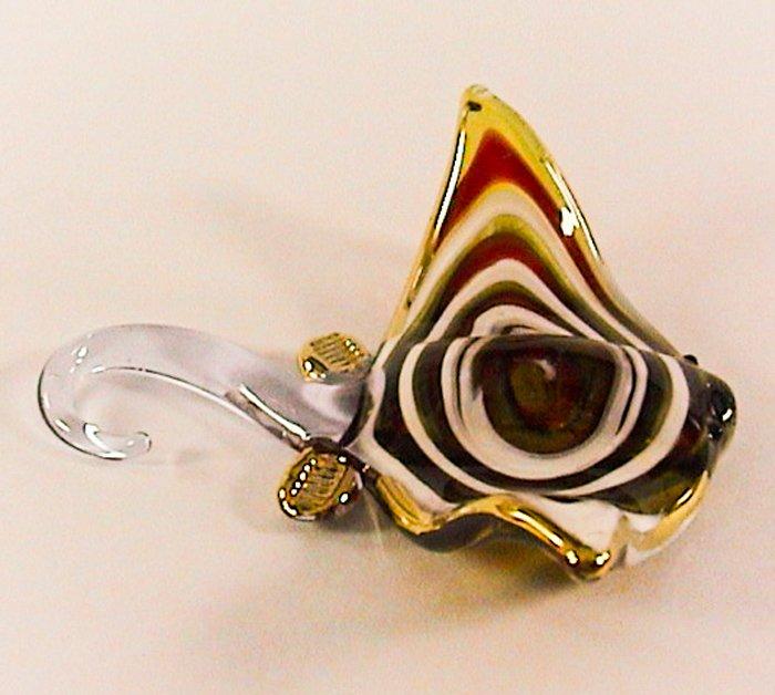 Hand Blown Glass Colorful Ray-Fish Gilt Art Glass Animal Figurines Thai Gifts