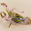 Hand Blown Glass Pink Lobster Gilt Art Glass Figurines Animals Thai Gifts