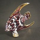 Hand Blown Glass NS-Red Fish Gilt Art Glass Animal Figurines Thai Gifts