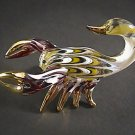 Hand Blown Glass Red-Yellow Scorpion Gilt Art Glass Animal Figurines Thai Gifts