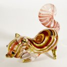Hand Blown Glass Red-Yellow Squirrel Gilt Art Glass Animal Figurines Thai Gifts