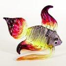 Hand Blown Glass Violet-Yellow-Orange-Red Fish Art Glass Animal Figurines Thai Gifts