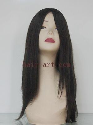"#4-18""-Mongolian hair stock jewish wig (Sheitel Kosher wigs)"