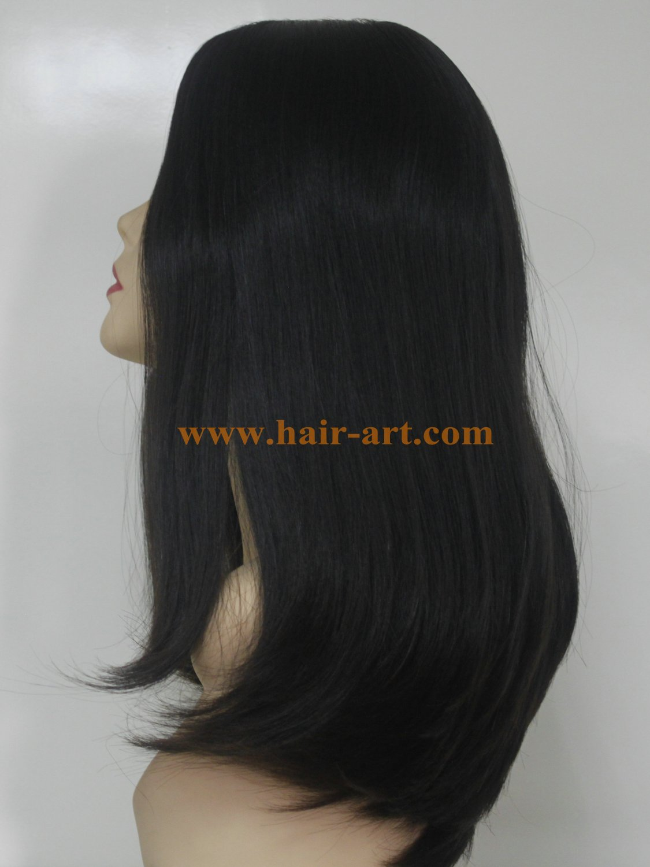 "#1B-20""-Mongolian hair stock jewish wig (Sheitel Kosher wigs)"