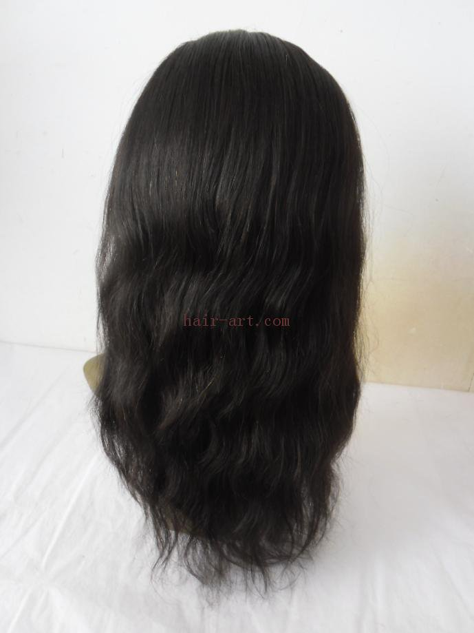 "16""-Indian vrigin hair stock full lace wig"
