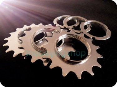 Fixed Gear Bike Hub Lock Ring with Cog Set 13T / 15T / 17T