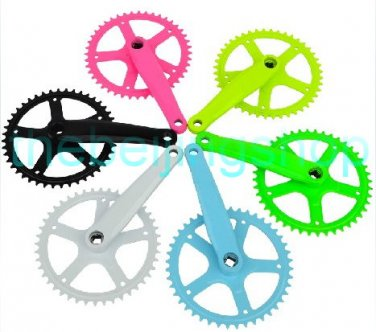 IB Fixed Gear Bike Steel Alloy 44T Crank Set & Arm (Integration)