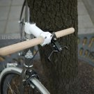 Fixed Gear bike Oak wood Straight Handle bar grip