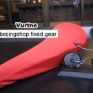 Vurtne Fixie Bicycle Seat Cover (Red /Standard)