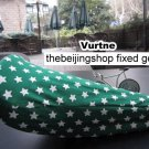 Vurtne Fixie Bicycle Seat Cover (Green & star /Standard)