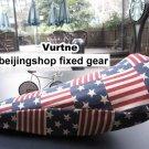Vurtne Fixed Gear Bike Seat Cover (US Flag /Standard)