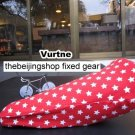Vurtne Fixed Gear Bicycle Seat Cover (Red & star /Standard)