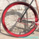 Fixie Fixed Gear Bike Wheel Rim Stickers (Reflective Red for 1)