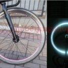 Fixie Bike Wheel Rim Stickers Reflect Light Silver (For 1 Wheel)
