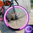 Fixie Bike Wheel Rim Stickers Reflect Light Pink (For 1 Wheel)