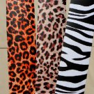 Fixed Gear Bicycle Frame Tube Sticker Leopard / Zebra