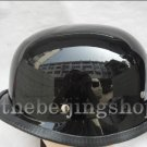 Gloss Black German Style Motorcycle Half Helmet