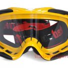 Motorcycle Dirt Bike Goggles w/ silicone back (yellow)