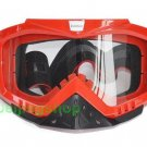 ATV Dirt Bike Motorcycle Goggles with nose cover (RED)