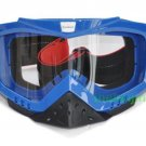 ATV Dirt Bike Motorcycle Goggles with nose cover (Blue)