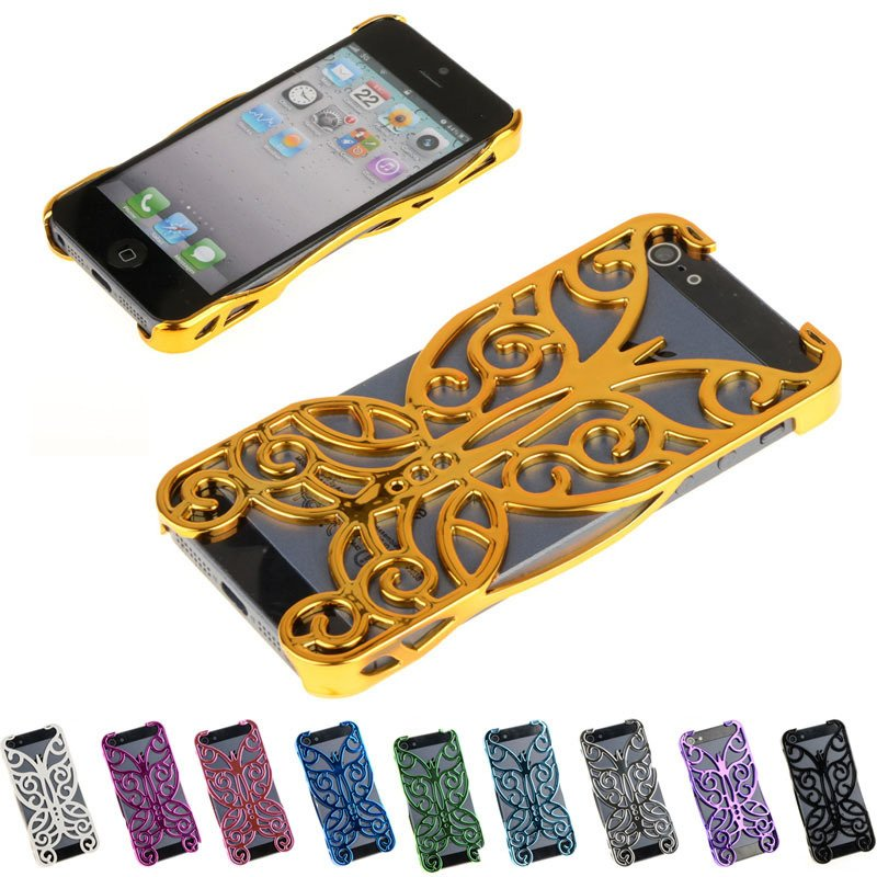 Hot Sale Butterfly Flower Protective Case Cover Fit For iPhone 5