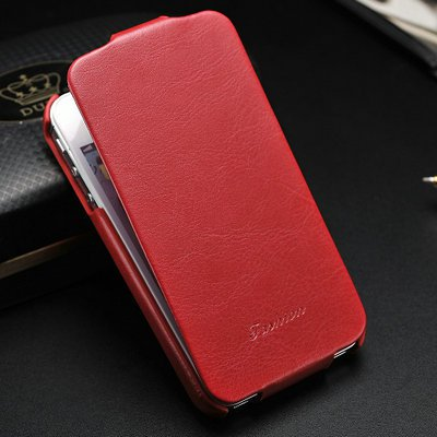 Luxury Retro PU Leather iPhone 5 Case Cover (RED)