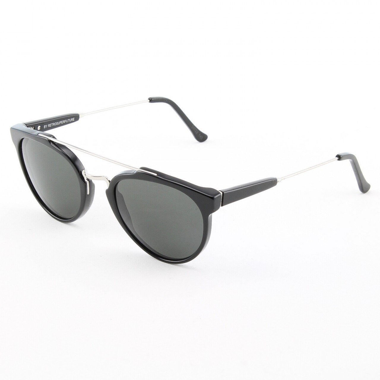 Super Giaguaro 468/3A Sunglasses by RETROSUPERFUTURE Color Black with Black Zeiss Lenses