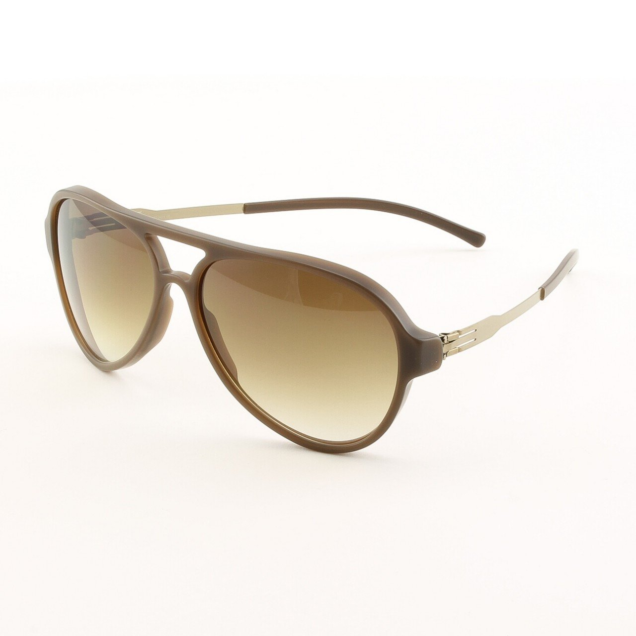 ic! Berlin Gefrone Sunglasses Col. Brown with Brown Gradient Lenses